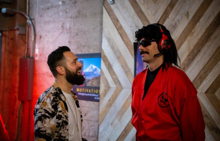 Dr Disrespect and Daniel Lopez on set