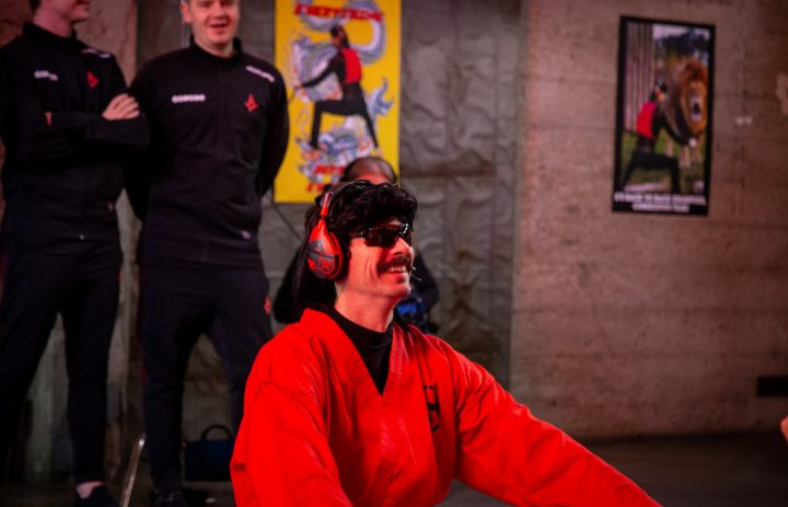 Dr Disrespect on set