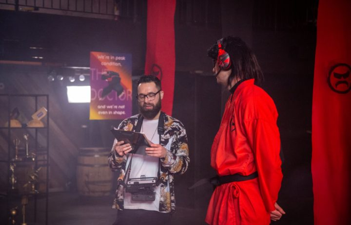 Director and Dr Disrespect behind the scenes